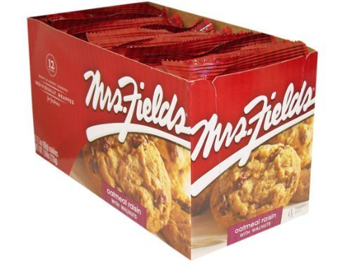 Oatmeal Raisin Walnut - Mrs. Fields Oatmeal Raisin with Walnuts Cookies, 12 count(2.1 oz per unit)