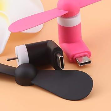 Ventilador USB Tipo C Micro USB 8 Pin Flexible Mini Móvil Fans ...