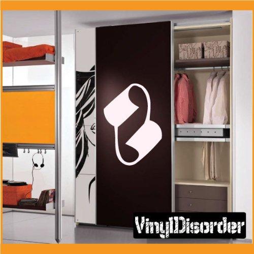 """Vinyl Disorder scrollsMC128 Scrolls Car Wall Decal, 36"""", Bla"""