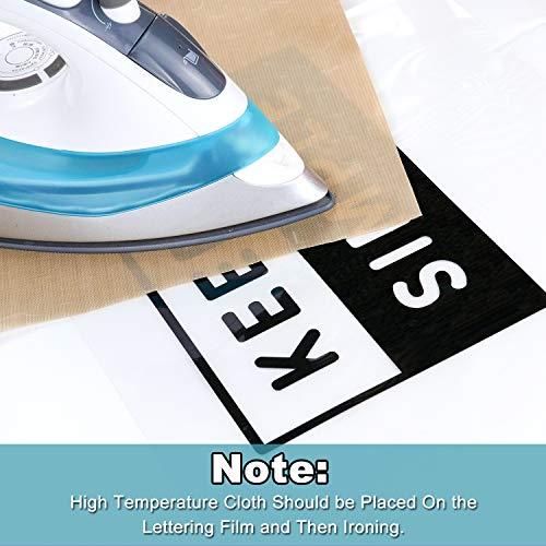 "ARHIKY Heat Transfer Vinyl HTV Bundle: 10 Pack Black 12""x10"" Sheets for DIY Iron On T-Shirts Fabrics"