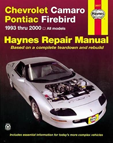 chevrolet camaro pontiac firebird 1993 2002 haynes repair manuals rh amazon com 1993 chevy camaro owners manual 1998 Chevrolet Camaro