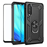 Strug for Samsung Galaxy A70 Case,Heavy Duty Shockproof Protection Built-in 360 Rotatable Ring Magnetic Car Mount Case Cover with Screen Protector for Samsung Galaxy A70(Black) Strug