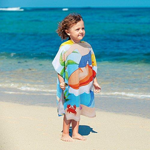 d4a46ab03b Mua sản phẩm Kids Beach Towel,100% Cotton Water Absorption Hooded ...