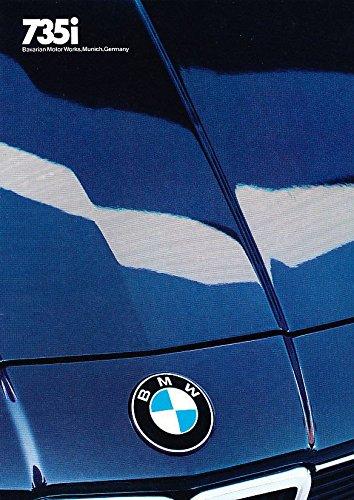 1986 BMW 735i 7-Series 32-page Original Car Grade-A Sales Brochure Catalog ()