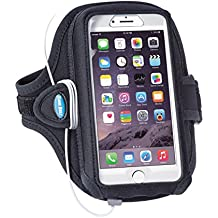 Armband for iPhone 6 6s 7 8 Plus with OtterBox Commuter / Defender, and Note 8 with Case - for Running & Working Out - Water Resistant [Black]