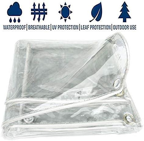 FQJYNLY 防水シート99%防水率の冷たい屋外の日除けPVC保護フィルムガーデニング、11サイズ (Color : Clear, Size : 2X2.5M)