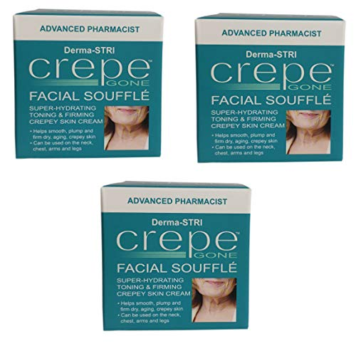 Crepe Gone Facial Souffle Anti Aging Skin Cream Super hydrating Toning & Firming Crepey Skin Cream (3x)