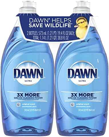 Dawn Ultra Dishwashing Liquid, Original, 19.4 Fl Oz, 2 Count