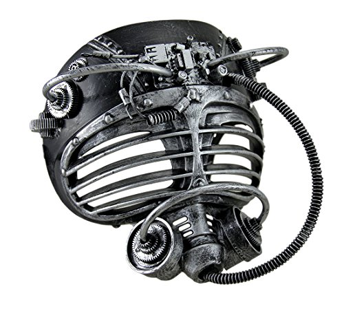 [Steampunk Silver Submarine Fancy Mask Adult Mens Womens Insect Robot Scuba Diver] (Female Robot Costumes)