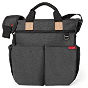 Skip Hop Duo Signature Carry All Travel Diaper Bag Tote with Multipockets, One Size, Soft Slate