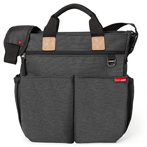 Duo Pocket Diapers (Skip Hop Duo Signature Carry All Travel Diaper Bag Tote with Multipockets, One Size, Soft Slate)