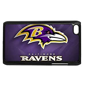 Baltimore Ravens IPod Touch 4/4G/4th Generation Case Hard Plastic Itouch 4 Back Cover Case Kimberly Kurzendoerfer