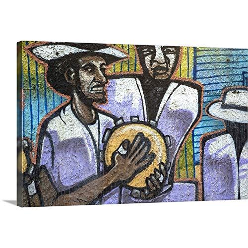 Puerto Rico, East Coast, Loiza Aldea, Beachfront Wall Mural Canvas Wall Art Print, 18
