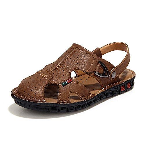 Männer Wildleder Weiche Sandelholze Flut Schuhe der Koreanische XIAOQI benutzen Doppelt handgenähte Schuhe Neuen Lederne Strand Beige Lederne xTwqAYTp