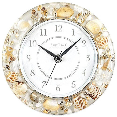 Firstime seashell decorative wall clock authentic ocean for Seashell clock