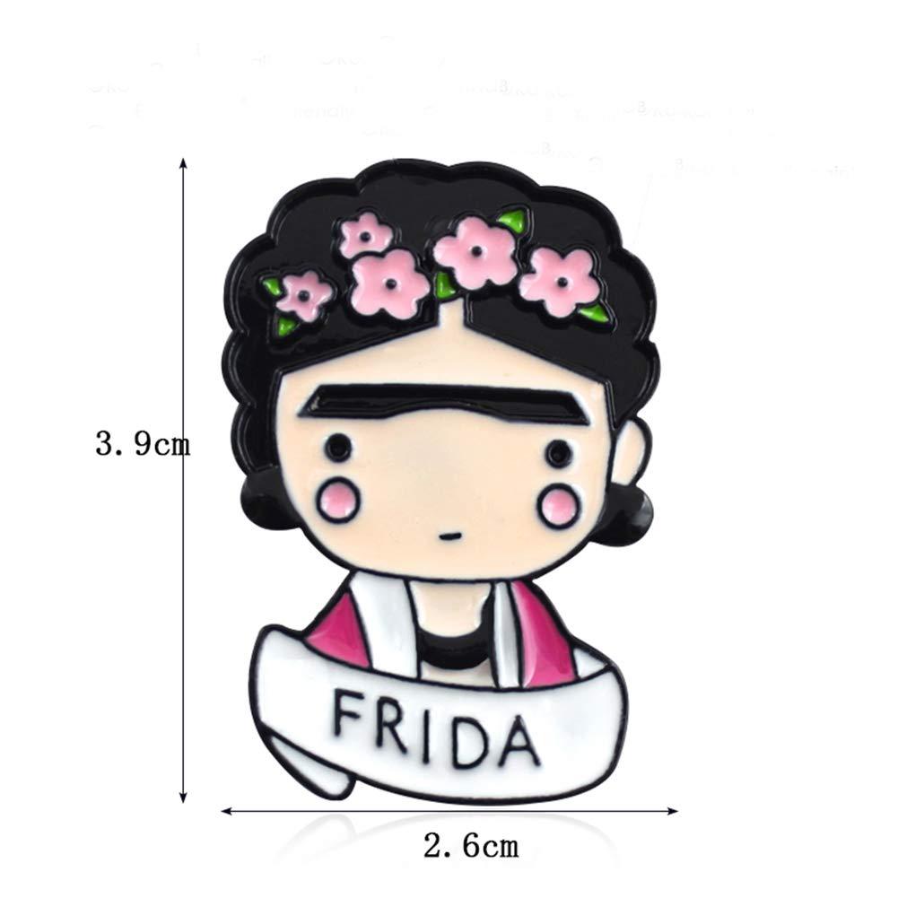 ClifcragrocL Broche /à bijoux en /émail Motif fleur de bande dessin/ée Rose