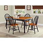 Better Homes Gardens Autumn Lane Farmhouse Dining Table | Black Oak- Easy to Assemble
