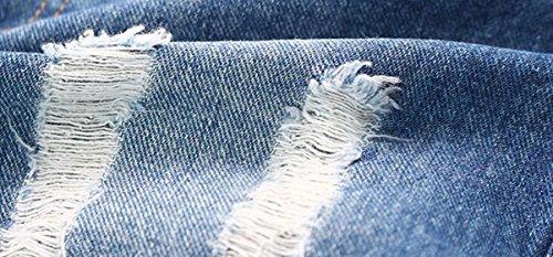 Big Girl's Denim Jumpsuit Boyfriend Jeans Cute Fashion Denim Romper Shortalls 9-10Years by Juakita Barpsa (Image #5)