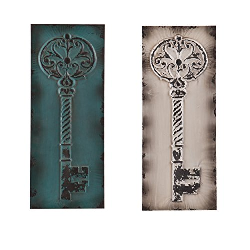 SEI Ratner Vintage Key Decorative Wall Panel, Set of 2