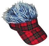Tarten Red Plaid Grey Flair Hair Visor Hat