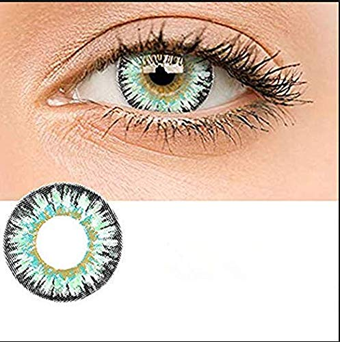 (KFIAQ 5 Colors Eyes Color Contacts Lens Eyes Cosmetic Makeup Eye Shadow (Milk powder)