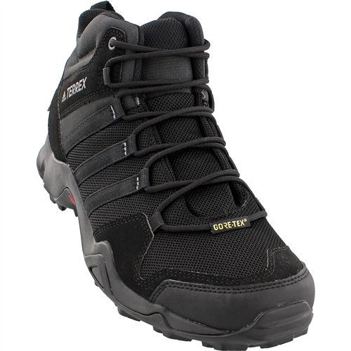 adidas outdoor Terrex AX2R Mid GTX Hiking Boot - Men's Black/Black/Vista Grey, 13.0