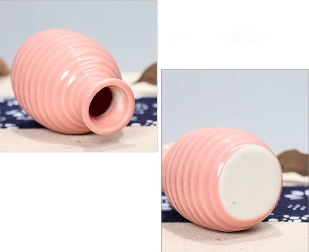 7,5/x 4,5/cm 7.5*4.5cm rose Outflower Mini vase en c/éramique D/écoration du bureau ou de la maison Rose