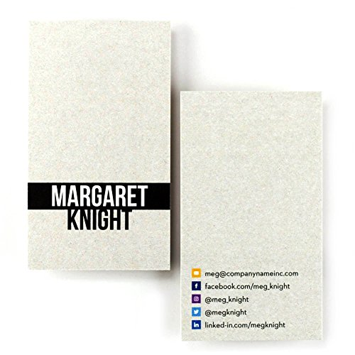 Printed business cards amazon buttonsmith custom premium business cards full color double sided luxury touch stock reheart Images