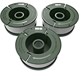 "Quickload 0.065"" Replacement Autofeed Spool 3-Pack (Compatible with AF-100/BLACK and DECKER String Trimmers)"