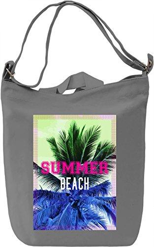 Summer Beach Borsa Giornaliera Canvas Canvas Day Bag  100% Premium Cotton Canvas  DTG Printing 