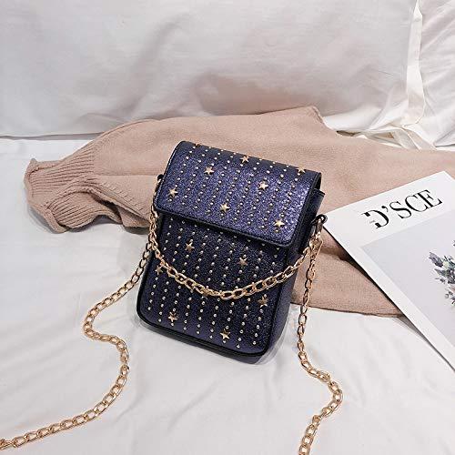Chaîne Sacs Messenger Sac De À Bandoulière Carré Main Violet Xmy Sauvages Petit Mode Rivet w5Y0qZxBI