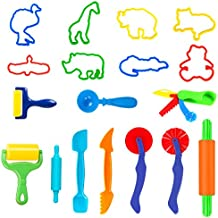 SPIEL Durable Smart Clay Dough Tools Kit with Models and Molds 18 Pieces Play Dough Cutters and Animal Modeling Set - Perfect for Kids