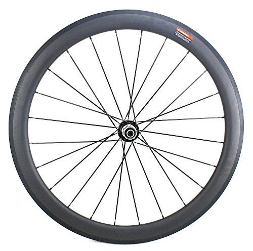Road Bike Wheel set 50mm Clincher Carbon Fiber Matte 25mm Width For Shimano or Sram 10/11 Speed 700C Wheels by WOKECYC (Image #5)