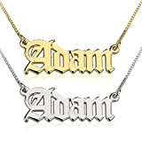 oNecklace %2D Old English Name Necklace