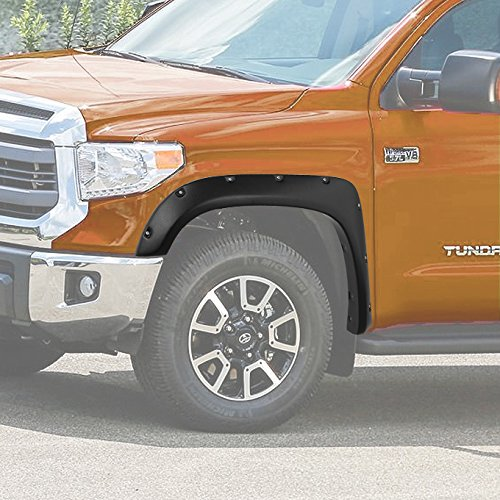 (For 2014 & up Toyota Tundra Pickup Truck Direct Bolt On Style 4pcs Texture Finished Fender Flare Kit)