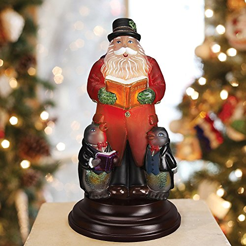 (Old World Christmas Caroling Santa Glass Night Light Figurine 529773)
