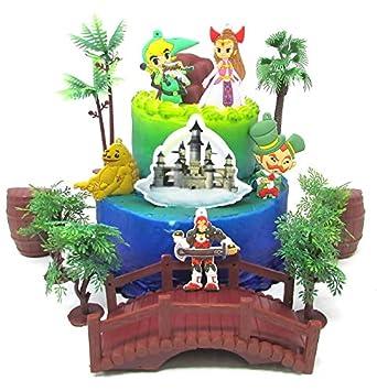 Pleasant Legend Of Zelda Deluxe Birthday Cake Topper Set Featuring Zelda Funny Birthday Cards Online Elaedamsfinfo