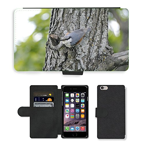 Just Phone Cases PU Leather Flip Custodia Protettiva Case Cover per // M00128018 Grimpereau des bois arbre aux oiseaux // Apple iPhone 6 PLUS 5.5""