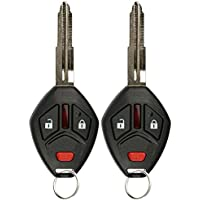 KeylessOption Keyless Entry Remote Uncut Notch Car Ignition Chip Key Fob for OUCG8D-620M-A (Pack of 2)