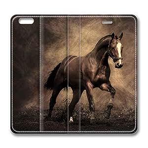 Brian114 iPhone 6 Plus case, iPhone 6 Plus Flip Case, iPhone 6 Plus Case Cover - PU Leather Flip Folio Wallet Case Cover for iPhone 6 Plus 5.5 inch - Quick Horse