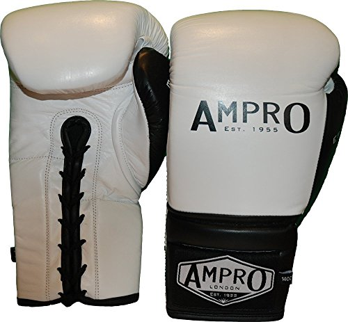 Ampro Mirage V2 Professional Hook and Loop Sparring Glove Red//White//Navy