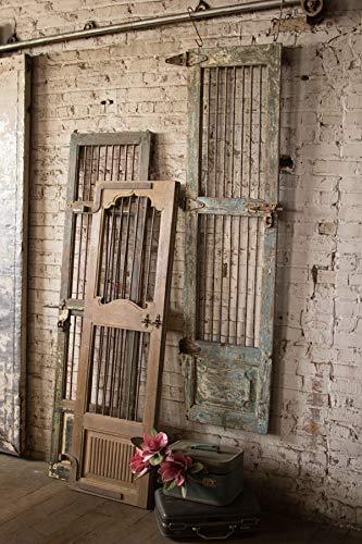 Kalalou NHAS1012 Wood and Iron Door Wall - And Iron Wood Doors