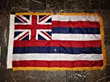 3X5 Hawaii State Poly Nylon Sleeve With Gold Fringe Flag 3'X5' Banner