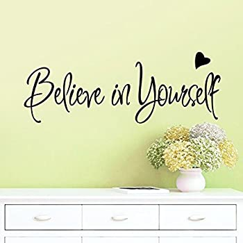 Bibitime believe in yourself office inspirational motivational inspiring achievement success kid vinyl wall quotes lettering sticker
