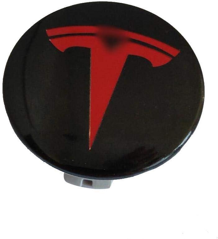 Cache-moyeu Logo Talon Capuchons de Cache-moyeux de Roue Gorgeousy Capuchon de moyeu en Acier Inoxydable 4PCS pour Tesla MOD/ÈLE S X 3