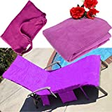 KING DO WAY Lounge Chair Seat Cover, Microfiber Sun Lounge Chair Beach Towel With Pockets Quick Drying Towels