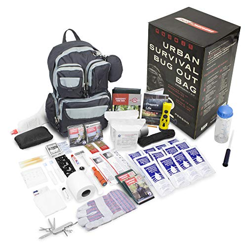 (Emergency Zone 840-2 Urban Survival Bug Out Bag Emergency 72 Hour Disaster Kit, 2 Person, Black)