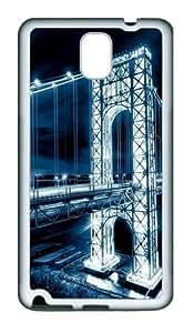 Light Bridge TPU Custom Samsung Galaxy Note 3/Note III/N9000 Case and Cover - White