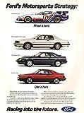 1984 Ford Year Line-Up Thunderbird Mustang Exp Racing GTP Vintage Original Magazine Print Ad