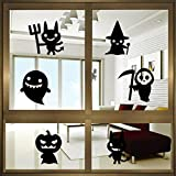 """LUNIWEI Happy Halloween 23*17"""" PVC Self Adhesive DIY Interior Room Creative Decoration Party Decal Wall Sticker"""